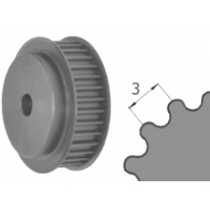 Ozubená remenica predvŕtaná HTD-3M Z=020/06